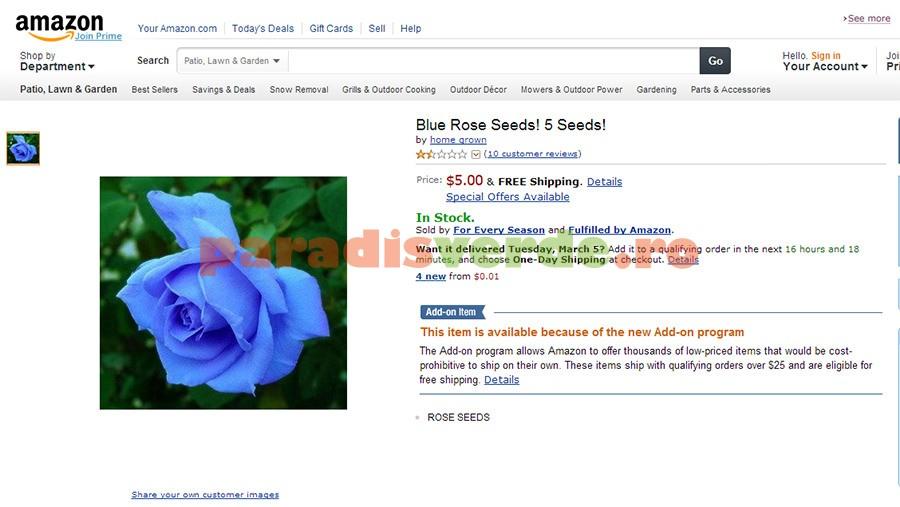Există trandafiri albaştri? | Paradis Verde