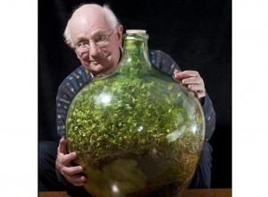 Grădina din damigeană a lui David Latimer este celebră în toată lumea. Plantată în 1960, damigeana a fost sigilată în 1972, de atunci funcţionând ca un microsistem autonom.