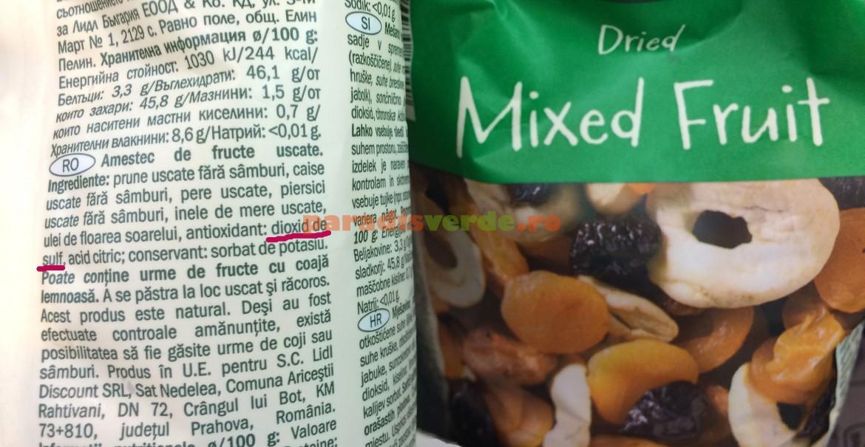 Fructele uscate, campioane la conținutul de sulfiți